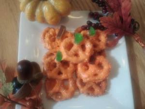 pumpkin pretzels